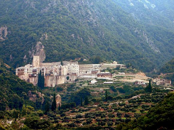 Где находится святая гора афон