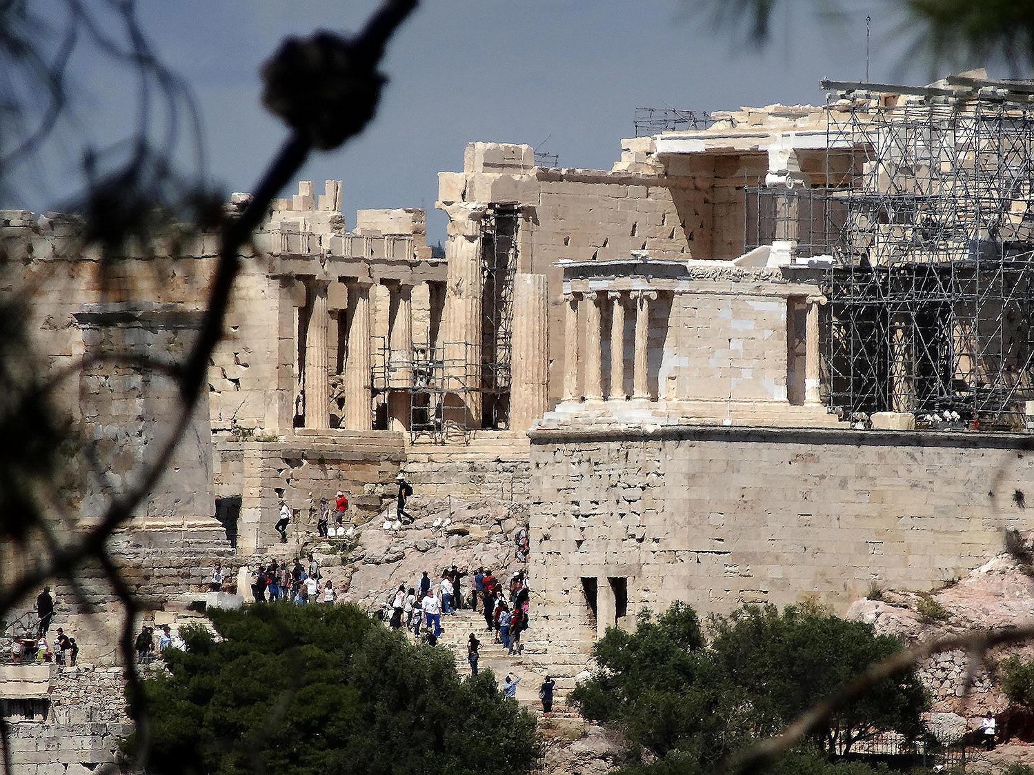 это пропилеи афинского акрополя картинки окрашена зелёно-салатовый цвета