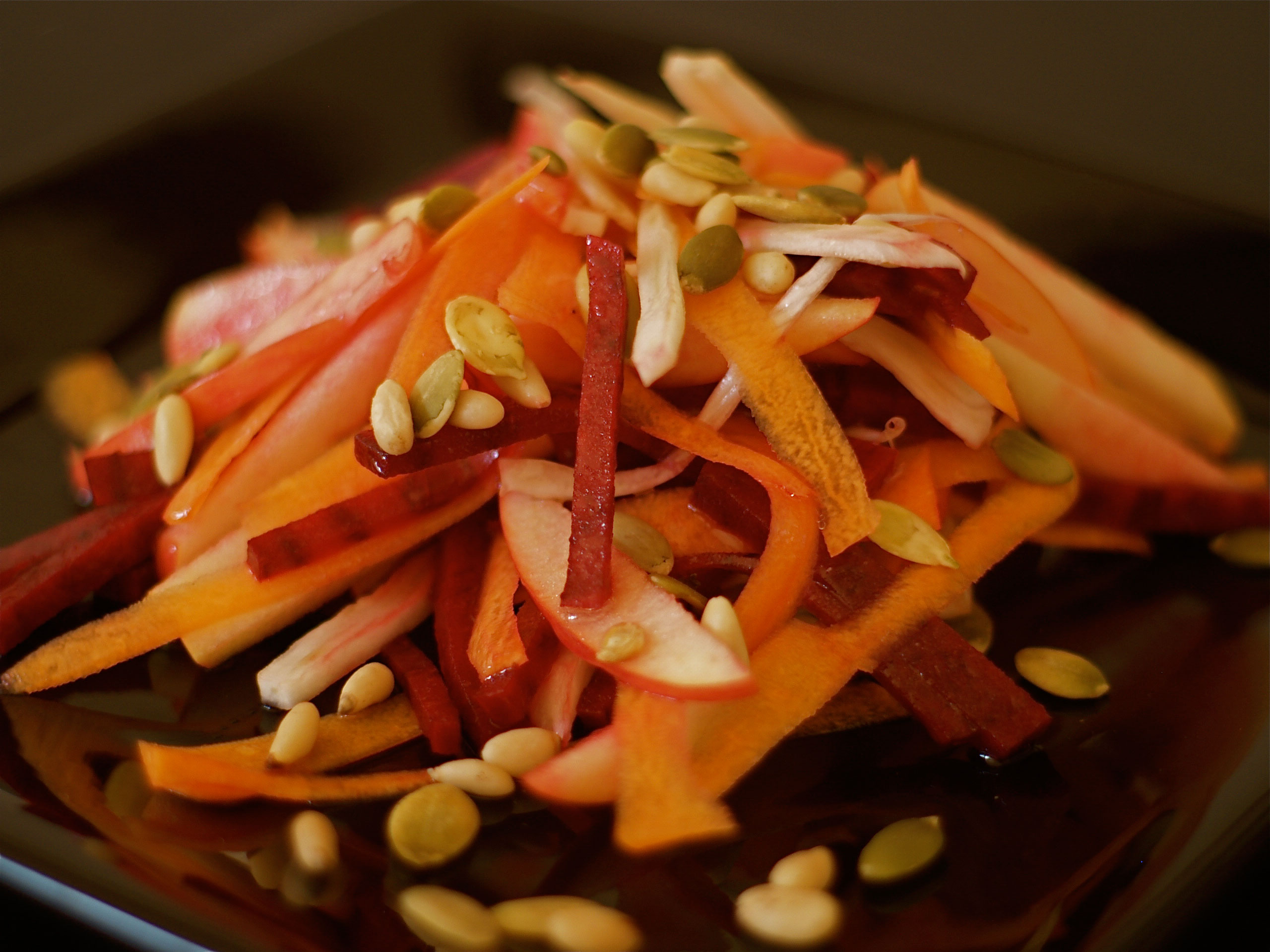 Салаты из моркови и свеклы грецкий орех