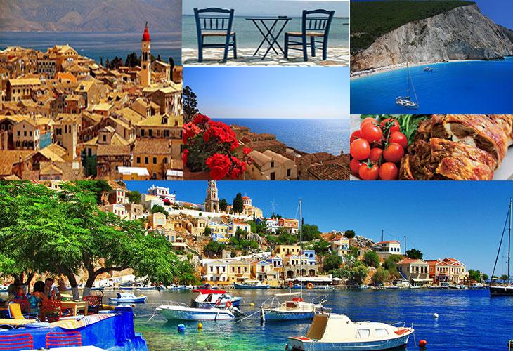 Греция коллаж картинки